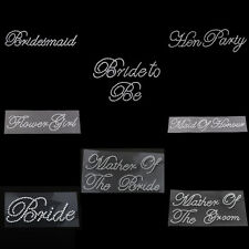 Wedding Party Rhinestones Transfers Sticker Motif for Bride Mother Bridesmaid