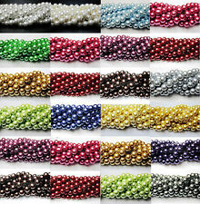 Lots 100pcs Quality Charms Czech Glass Pearl Round Beads 4mm 6mm 8mm 10mm 12mm