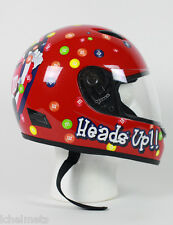 M&M Licensed Full Face RED Childrens Motorcycle Helmet SIZE LARGE ON SALE