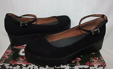 Jeffrey Campbell Kiku platform ankle strap shoes Black Nubuck Suede New With Box