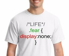 "T-shirt Funny Geek IT "".fear {display:none;}"" tee, geek humor, IT jokes"