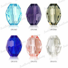 20pcs Fashion Rice Style Faceted Crystal Glass Beads 10x8mm Wholesale Choose HOT