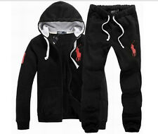 POLO MEN'S CASUAL HOODY SWEAT+PANTS TRACK JACKET HOODED GUARD COATS SWEAT SUITS