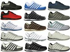 BRAND NEW MENS K.SWISS RINZLER LACE UP TRAINERS FOOTWEAR IN BLACK-WHITE COLOURS