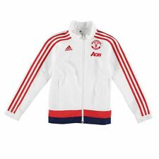 adidas Childrens Boys Manchester United Pre Match Jacket Outerwear Long Sleeve