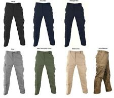 SOLID COLOR Cargo Pants BDU Military Army Navy USMC Marines EMT SWAT EMS XS-7X