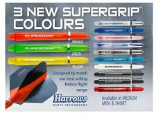 10 SETS OF HARROWS SUPERGRIP DART STEMS SHAFTS - NOW IN 13 COLOURS -  3 SIZES