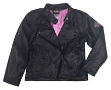 Harley-Davidson Little Girls' Winged Bar & Shield PU Biker Jacket, Black 6033691