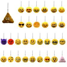Soft Round Plush Emoji Charm Key Chain Strap String Fashion Gift Assorted Design