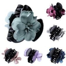 Girls Cloth Flower Jaw Clip Barrette Hair Claw Hair Accessory