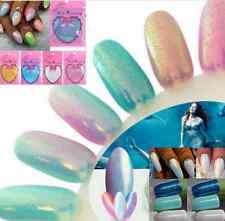 Hot DIY Mermaid Effect Glitter Nail Art Powder Dust Magic Glimmer Irridescent