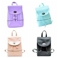 1X New Backpack Travel PU Leather Handbag Rucksack Shoulder School Bag BTR