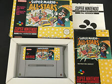 SUPER NINTENDO SNES   MARIO ALL STARS Yellow  BOXED Excellent Condition