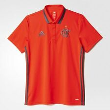 NEW Flamengo Polo Shirt Red Soccer Football Maglia Jersey - 2016 Adidas Brazil