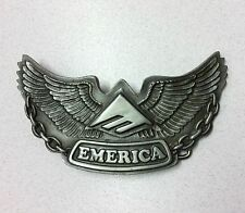 "EMERICA ""WINGS"" METAL BELT BUCKLE SILVER COLOR ONE SIZE STYLE # (6140000353)"