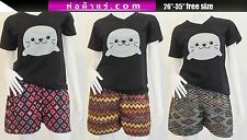 Thai Hmong Shorts Boho Hippie Summer Unique Casual Unisex Aztec Ethnic Handmade