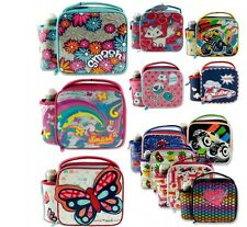 2-Piece Insulated Junior Smash Lunch Bag and Bottle Boys Girls School Set