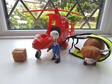 POSTMAN PAT SDS HELICOPTER  (PAT 3) WITH POSTMAN PAT AND DAISY FIGURES + PARCEL