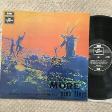 PINK FLOYD- MORE. WEST FACING COUPLE/GREEN1ST UK PRESS VINYL LP. NM/ex