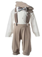 NEW Boys Tan Knicker Sets, Four Styles for Infants Toddler and Big Boy Sizes