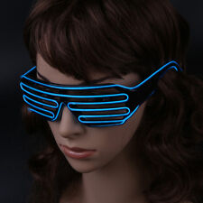 LED Luminescent Window Blinds Glasses  Glowing Flashing Glasses Party Articles