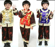 3 colors Chinese kid child boys winter cotton jacket/pants suit Sz: L XL XXL