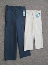 Boys Pants Khaki  Navy Blue chino school uniform NEW Flat 5 10 12 14 16