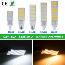 New E27/G24 LED Horizontal Plug 2835SMD Corn Light Bulb Lamp 5W/9W/10W/12W/13W