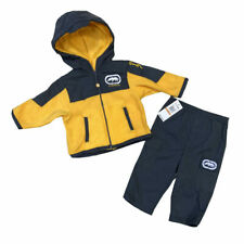 Ecko Unltd Infant Boys 2 Piece Fleece Sweatsuit 12-24 months Outfit Yellow/Blue