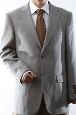 MENS TWO BUTTON SUPER 140S WOOL LIGHT GRAY COLOR SPORT COAT, J44812S-881-LGR