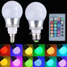 RGB LED Light Color E27/E14 5W Changing Lamp Bulb 85-265V With Remote Control MS