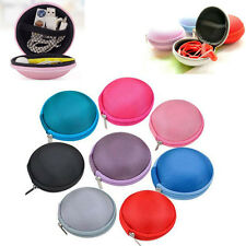 New Colorful Mini Round Hard Storage Case Bag EVA for Earphone Headphone SD TF