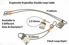 Kryptonite KryptoFlex Double Clinch Loop Cable Harley Davidson Security Flexible