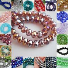 New Faceted Rondelle Jewelry Bicone Crafts Glass Crystal Beads Multicolor 2016