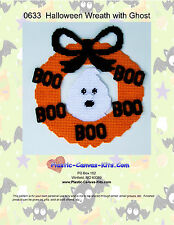 Wreath with Ghost- Plastic Canvas Pattern or Kit-Halloween