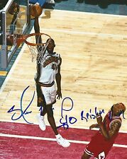 SHAWN KEMP SIGNED SEATTLE SUPERSONICS 8x10 PHOTO with REIGN MAN inscription!