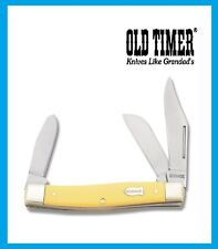 Schrade Old Timer Pocket Knife Senior Stockman with Yellow Handle Free Shipping