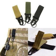 Military Nylon Key Hook Webbing Molle Buckle Hanging Belt Carabiner Clip New  MO