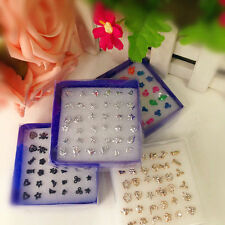 24/18 Pairs Charming New Fashion Wholesale Mix Silver Plated Ear Studs Earring