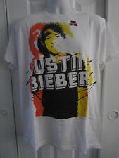 Hot Topic: Justin Bieber Name White Slim-Fit T-Shirt