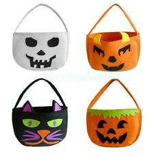 Halloween Tote Bag, Trick or Treat Bag, Child Kids Loot Sweet Candy Cello Pouch