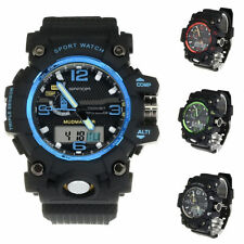 New Fashion LCD backlight Alarm Stopwatch Analog Quartz Digital Wrist Watch