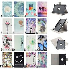"360 Rotating Slim Leather Case Stand Cover For 7"" Amazon Kindle Fire 7 5th 2015"