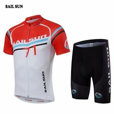 SAIL SUN Mens Summer Team Cycling Jersey Bib Shorts Bicycle Bike Sets Clothing