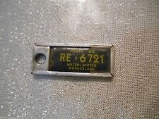 1965 Michigan DAV  License Plate Tag: # RE-6721