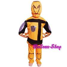 Halloween Transformers Bumble Bee Cartoon Boy Costume All Size 2 3 4 5 6 7 FC010