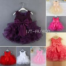 Flower Baby Girl Princess Wedding Birthday Party Pageant Toddler Tutu Gown Dress