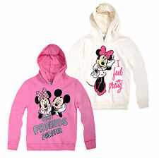 Girls Official Disney Minnie Mouse Hoodie New Kids Sweatshirt Ages 2-8 Years