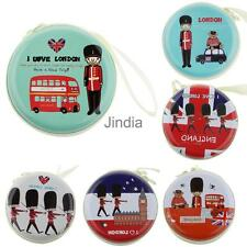 I Love London Zipper Round Coin Purse Earphone Key Case Mini Storage Bag Pouch