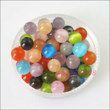 New Charms Mixed Cat Eye Gemstone Loose Ball Round Spacer Beads 4mm 6mm 8mm